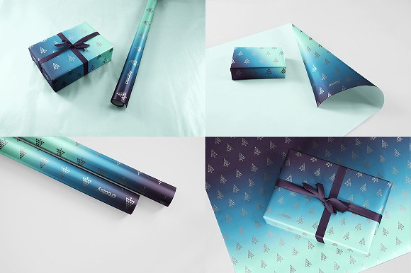 Different Views of a Wrapping Paper Design