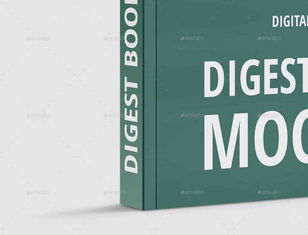 Digest Soft Cover Book Mockup