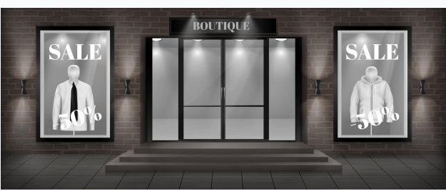 Discount Storefront vector Illustration