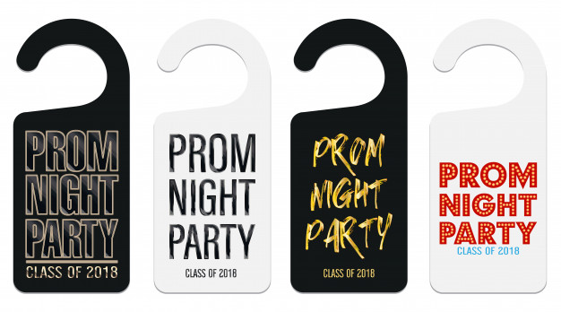 Door Prom Night Party Hanger Vector File
