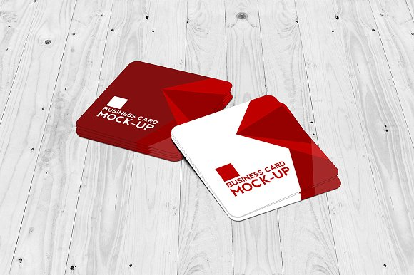 Dual Textured Square Business Card Design