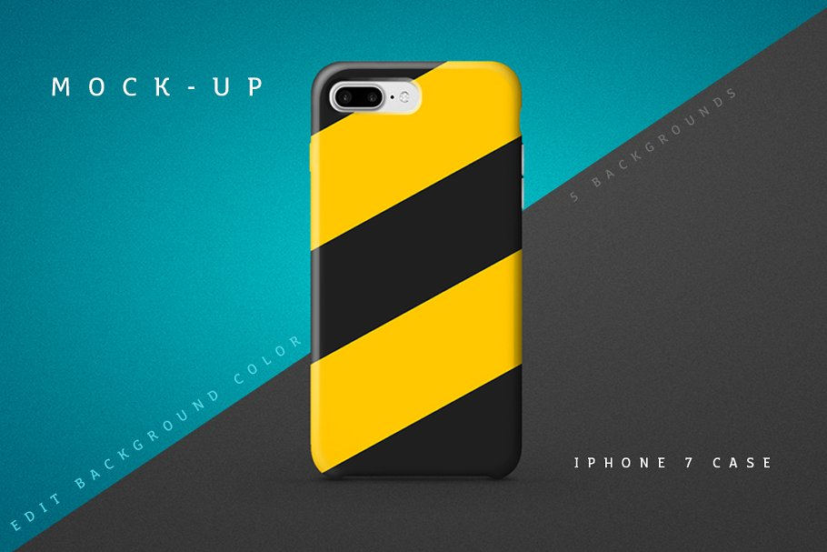 Duo Colored Phone Case Cover PSD File.