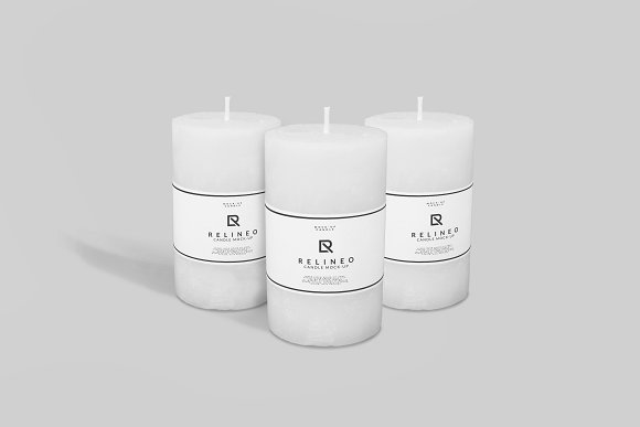 Easy to Edit Candle Design template in PSD