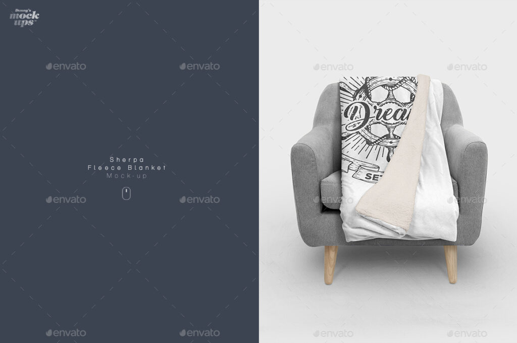 Editable Blanket On A Chair PSD File.