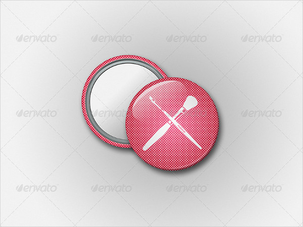 Editable Button Badge Mockup