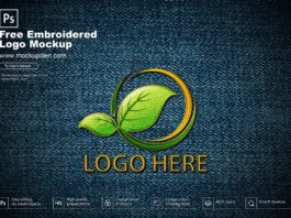Free Embroidered Logo Mockup PSD Template