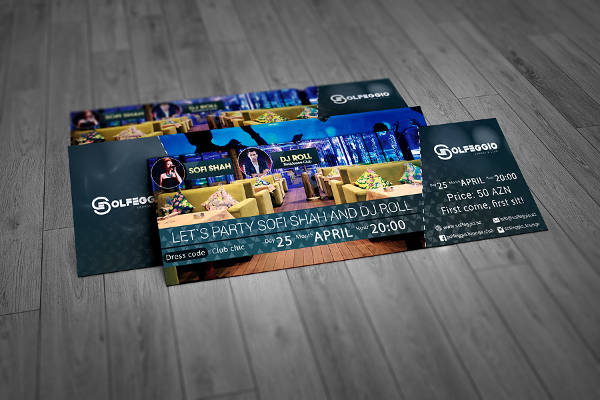 Event Ticket free Download PSD Mockup