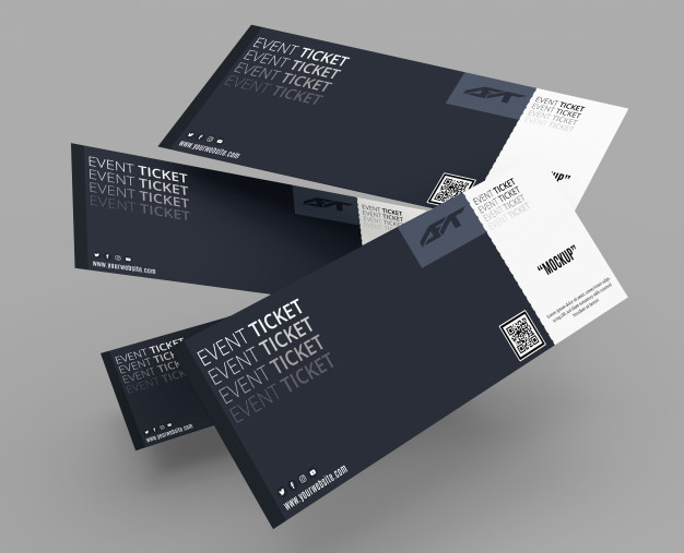 Event ticket mockup Premium Psd