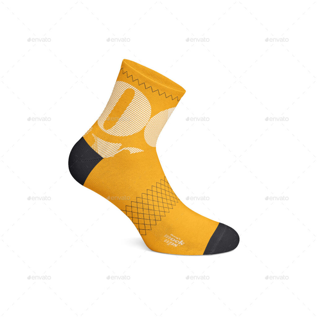 Fitness Socks For Cycling mockup.