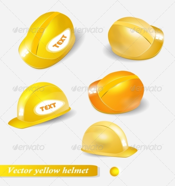 Five Hard Hat Illustration In Different Pose