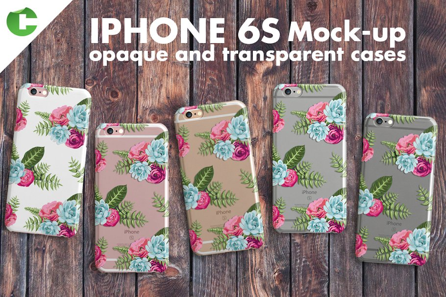 Floral Printed Case Cover For iPhone 6s PSD.