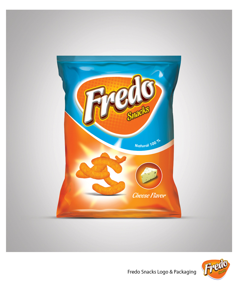 Fredo Snacks Packaging Mockup PSD