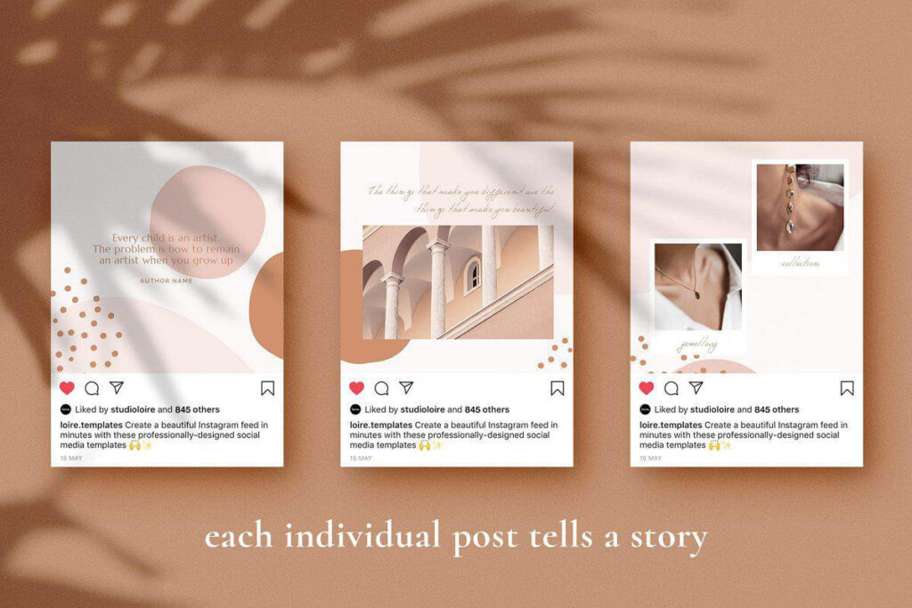 Free Instagram puzzle Mockup PSD Template