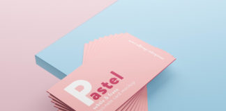 Free Light Color Business Cards Mockup PSD Template