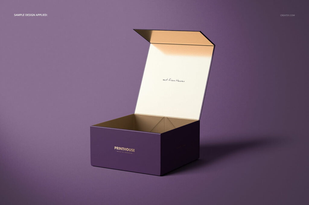 Free Luxury Magnetic Gift Box Mockup Set PSD Template