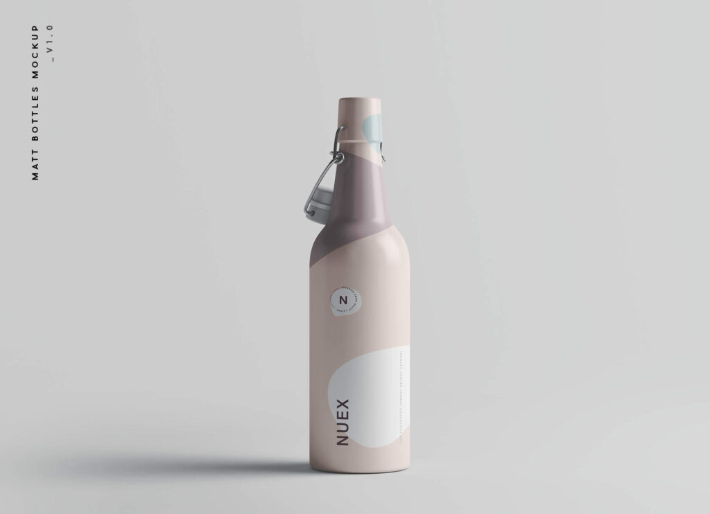 Free Matt Clamp Bottle Mockup PSD Template