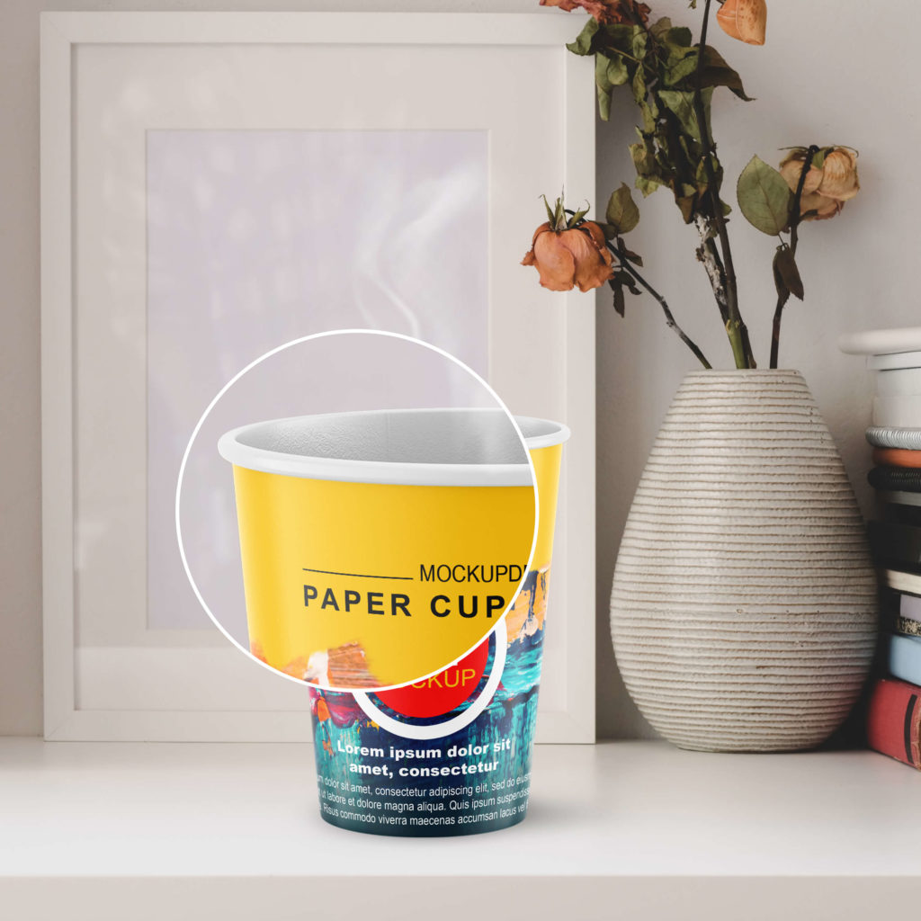 Free Paper Cup Mockup PSD Template