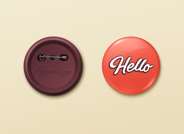 Free Pin Button Badge PSD