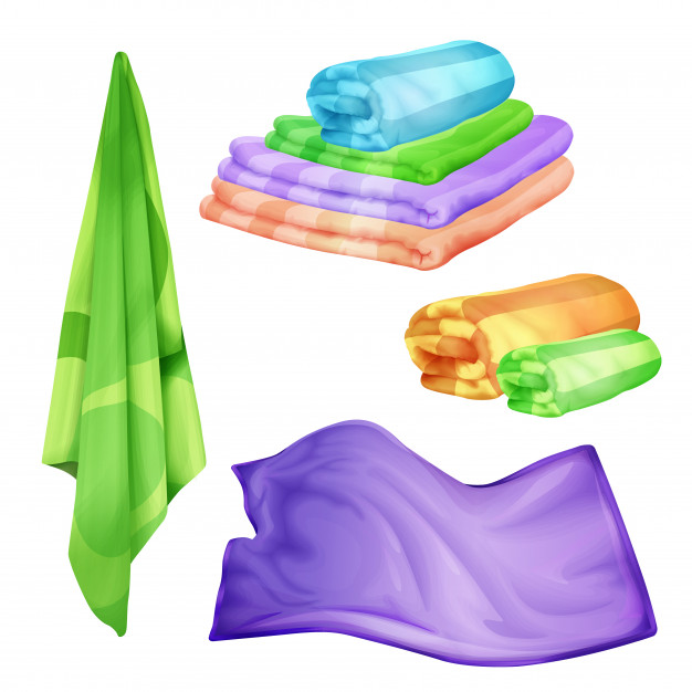 Free Vector Different Colour Folded Towels