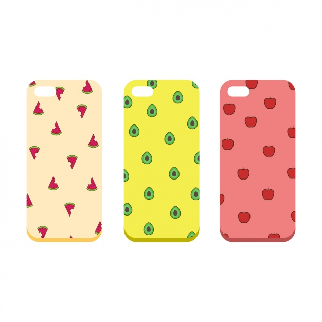 Fruit Printed Case Cover PSD Mockup.