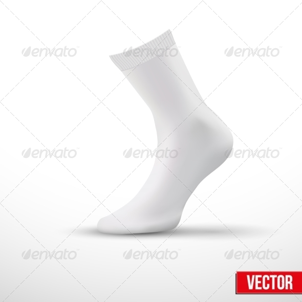 Fully Editable Socks PSD Template.