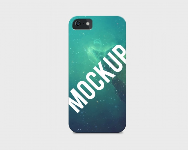Galaxy Printed Phone Case PSD Template.