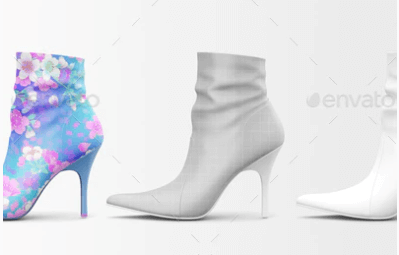 Girls High Heels Shoe PSD Design