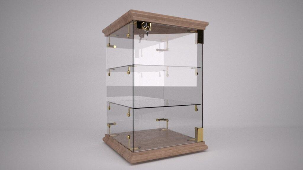 Glass Cabinet Mockup Free PSD