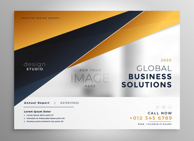 Global Business Brochure Realistic Flyer Vector File