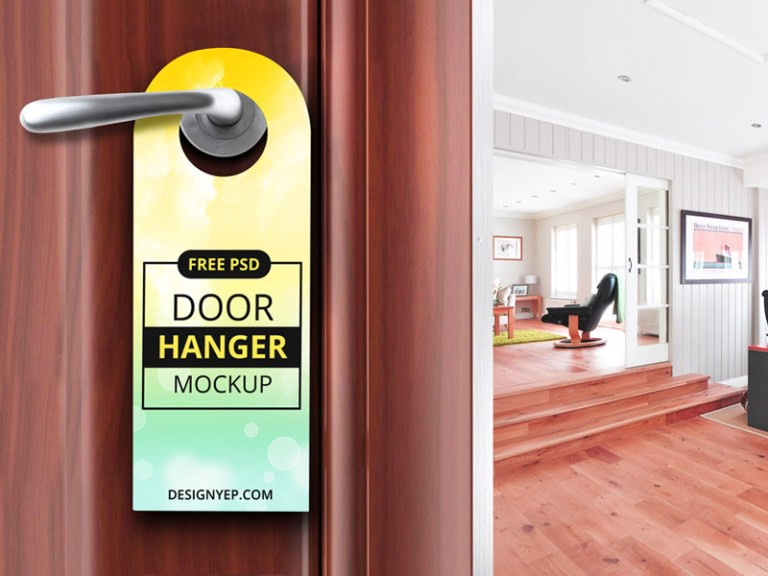 Hang Free PSD Door Mockup PSD