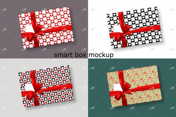 Heart Shaped PrintWrapping Paper PSD