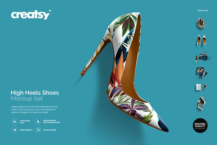 High Heels Ladies Shoe Mockup PSD File