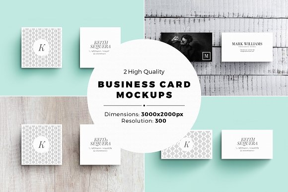 High Quality Square Business Card PSD