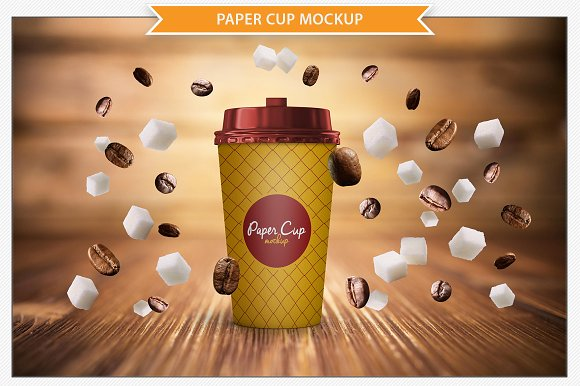 High Resolution Paper Cup PSD template
