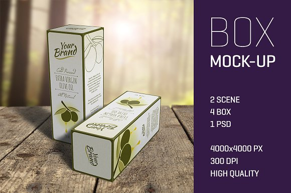High-quality Editable Wine Box Packaging Template