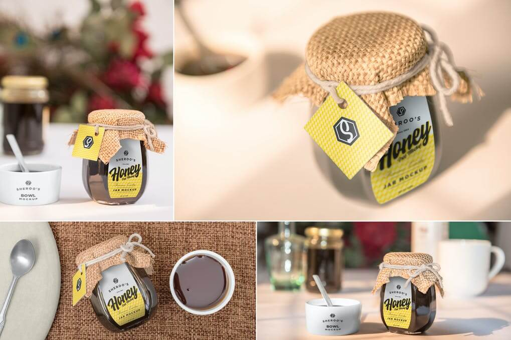 Honey Jar Mockups