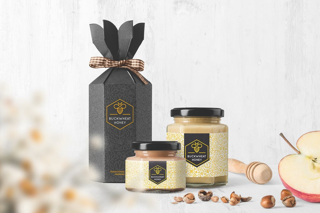 Honey Jar Packaging Mockups