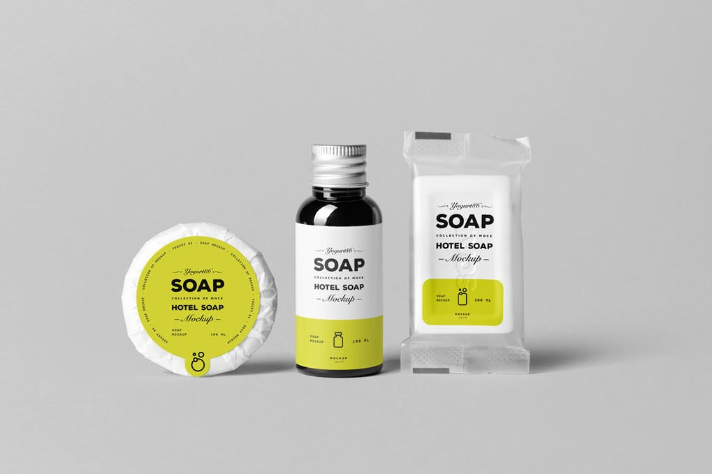 Hotel Soap Packing Pouch Mockup
