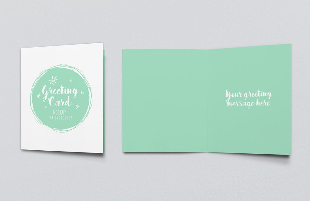 Ideal Greeting Cards Mockup PSD