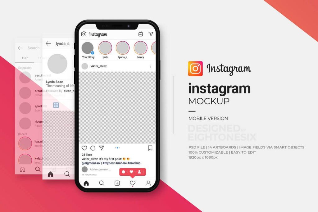 Instagram Mock-Up Template