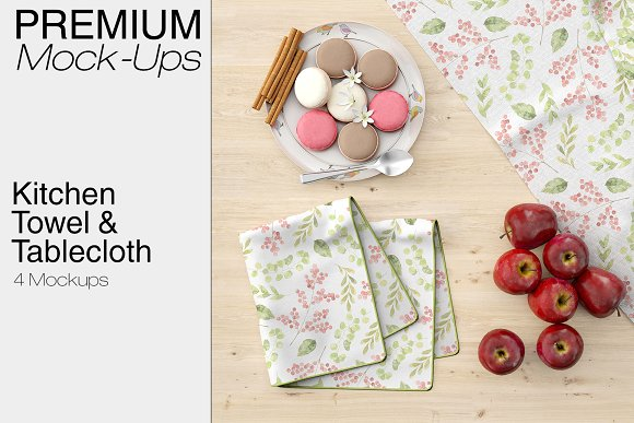 Kitchen Towel & Tablecloth With Dinner set