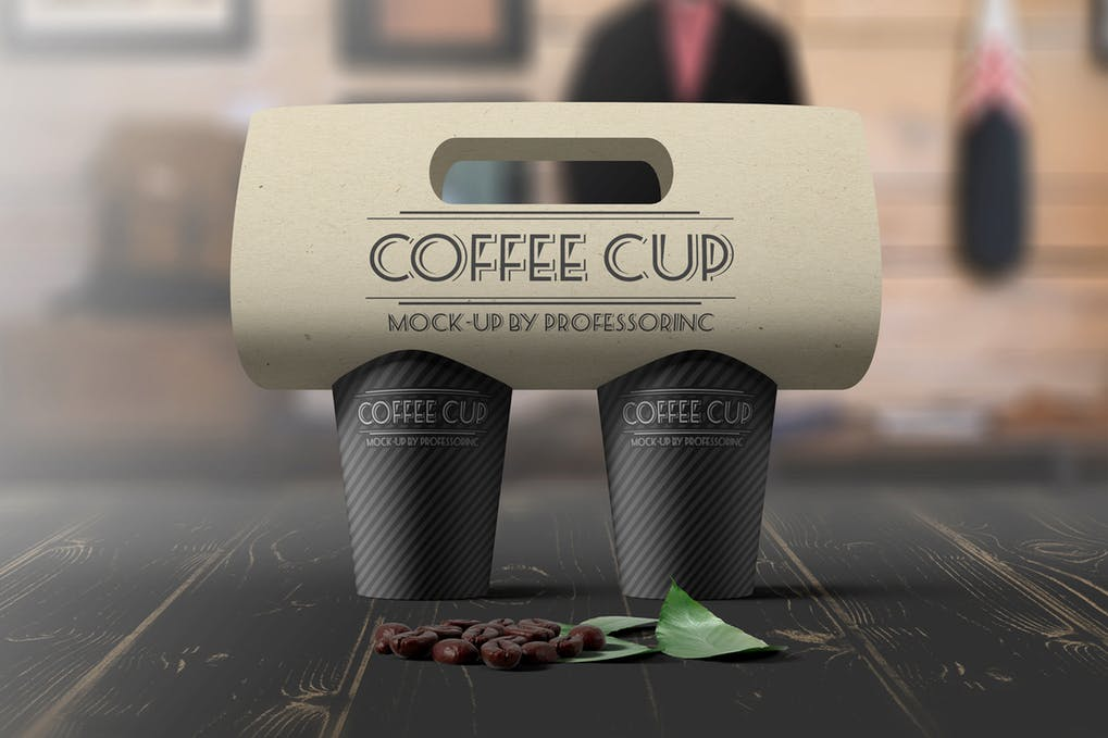 Layered Coffee Cup PSD Template