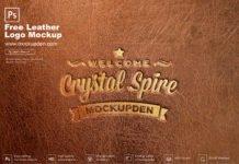 Free Leather Logo Mockup PSD Template