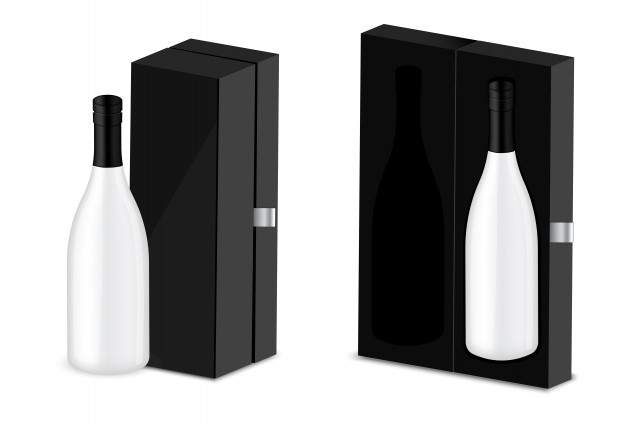 Luxury Wine Box Free Vector Illustration