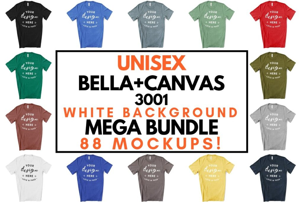 Male Bella Canvas 3001 Mockup Bundle