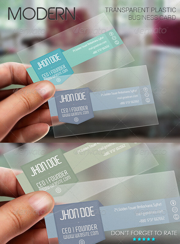Modern Business Plastic Card PSD.