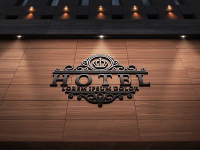 Modern Wall Sign Design template in PSD Format