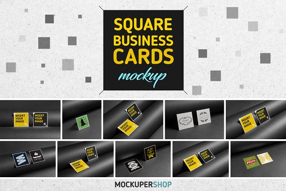 Multicolored Square Business Card PSD