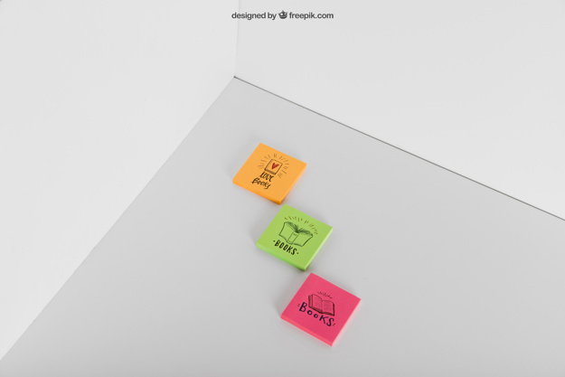Multicolored Sticky Notes Mockup PSD