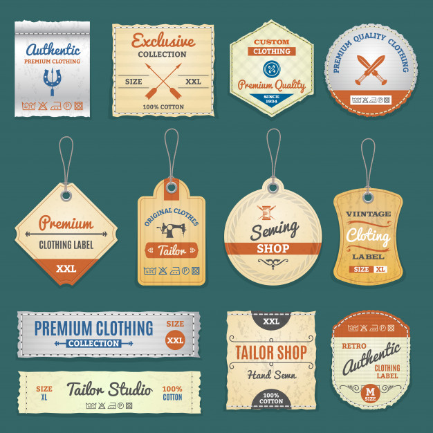 Multiple Shapes Hang Tag Collection Vector File Download